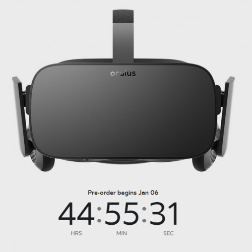 Oculus Rift pre-orders open January 6
