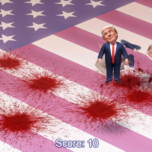 There's a game where you get to kill Donald Trump