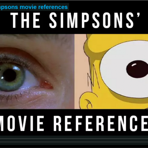 The Simpsons movie references supercut