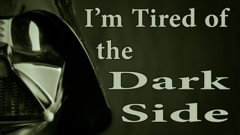 darth vader tired of dark side