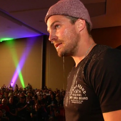 Stardust and Stephen Amell clash at Dallas Comic Con