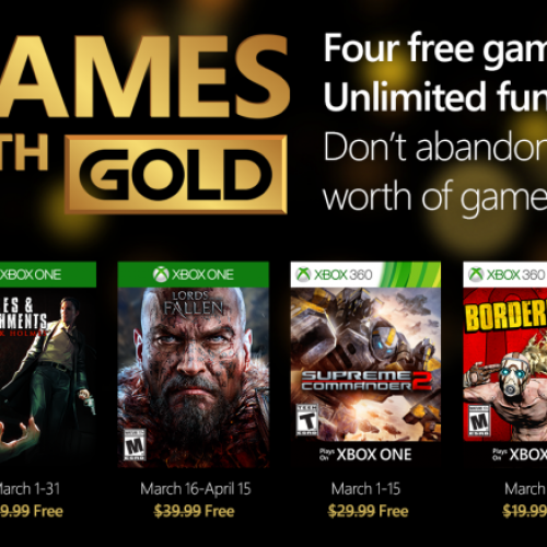Here are your March Xbox Games with Gold