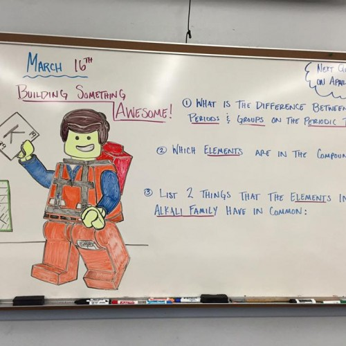8th grade science teacher inspires students with cartoon heroes
