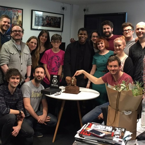 Empire buys John Boyega a birthday cake… so naturally he shows up