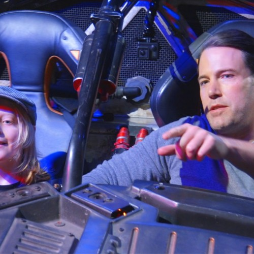 Ben Affleck drives Batmobile and surprises fans