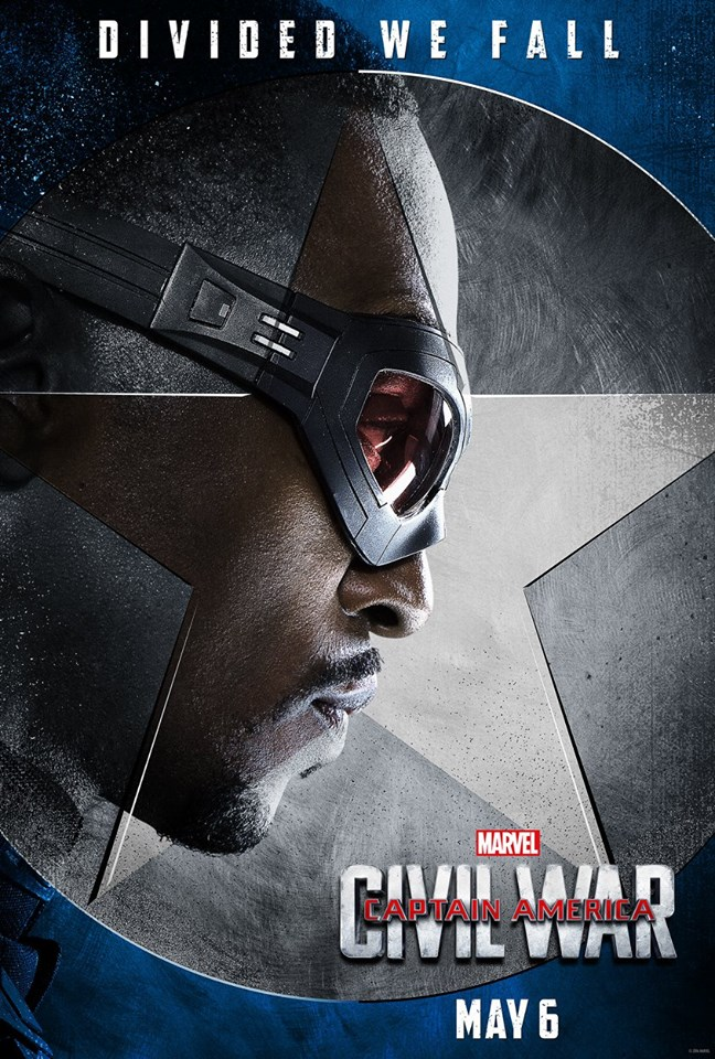 Team Cap gets character posters for Captain America: Civil ...