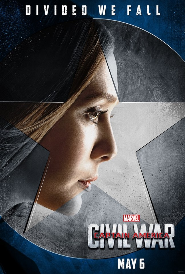 captain america civil war poster - scarlet witch