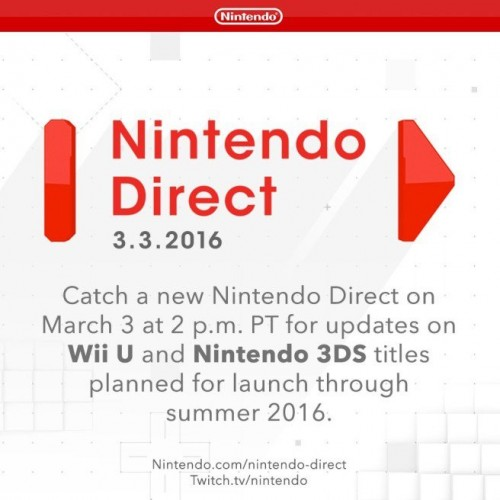 Tommorrow's Nintendo Direct will focus on upcoming Wii U and 3DS titles
