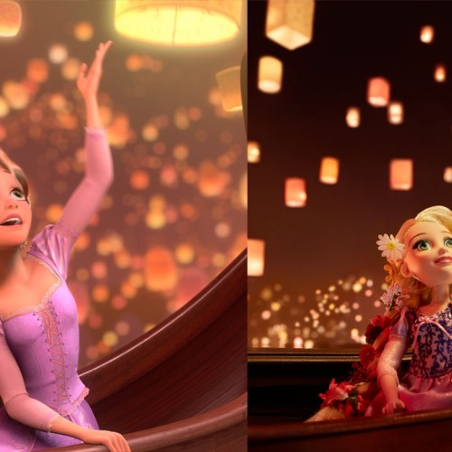 Disney princesses as dolls bring animated scenes to life