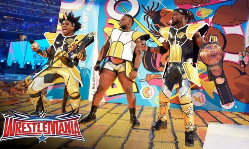 WWE Tag Team Champions, The New Day, come out in Dragon Ball Battle Armor