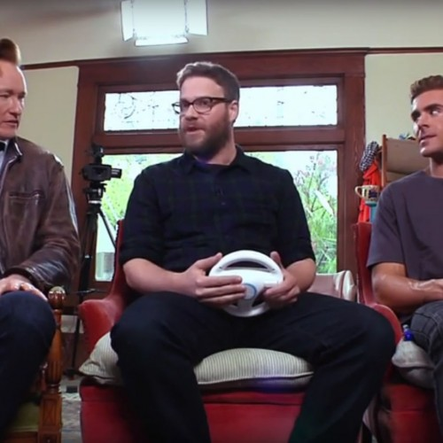Conan plays Mario Kart 8 with 'Neighbors 2' Seth Rogen and Zac Efron