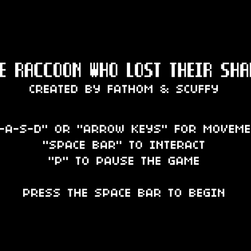 FilmCow's The Raccoon Who Lost His Shape browser game