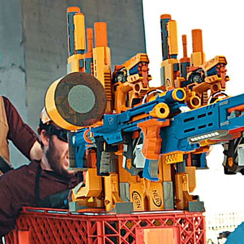 Team Fortress 2 in real life with Nerf guns looks like a blast