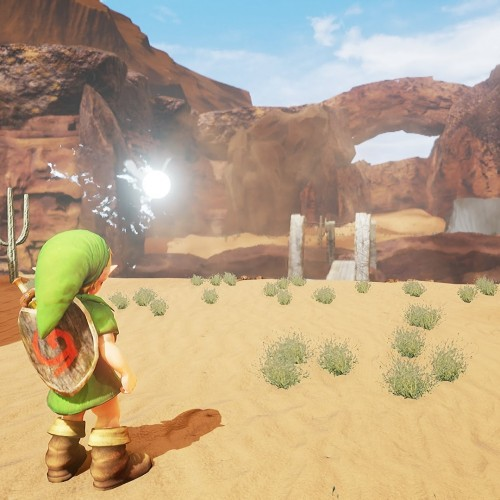 Zelda: Ocarina of Time's Gerudo Valley redone in Unreal 4