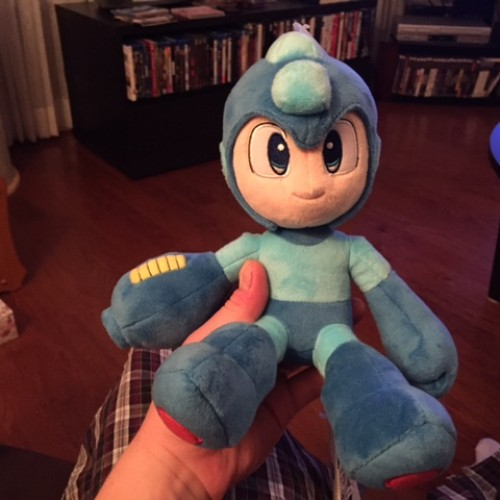 The Mega Man plush toy I got from Ottawa Commicon