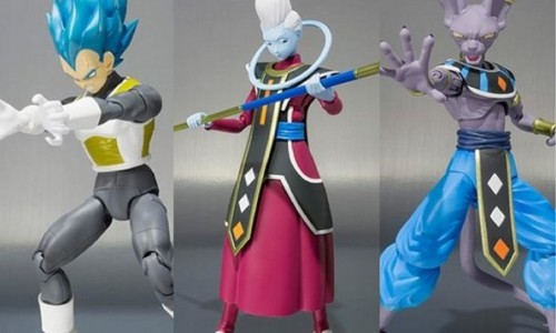 Add Beerus, Super Saiyan Blue Vegeta, and Whis to your Dragonball S.H. Figuarts collection