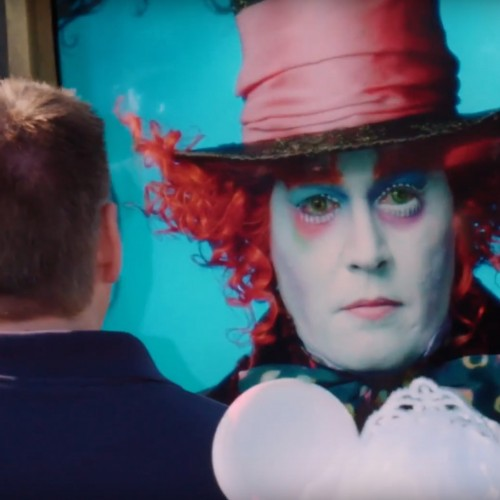 Johnny Depp surprises Disneyland fans as the Mad Hatter