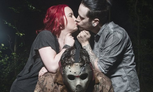 Couple does Friday the 13th-themed wedding