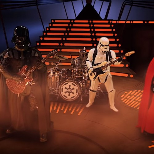 Rock out with Darth Vader and stormtroopers performing 'Imperial March'