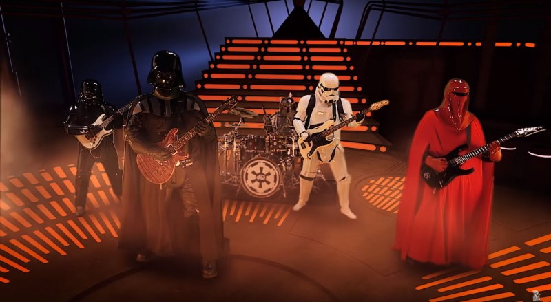 Imperial march star wars galactic empire rock