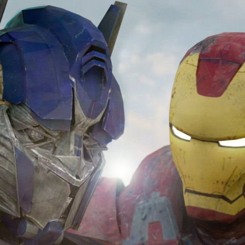 Optimus Prime fights Iron Man in new Super Power Beat Down