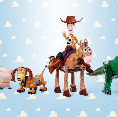 These Toy Story figures combine to create a super robot sheriff