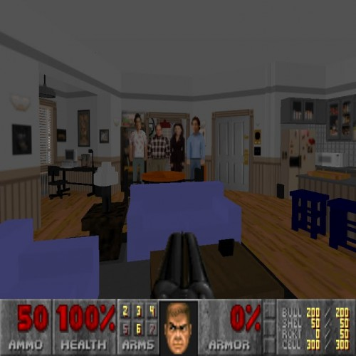 Jerry Seinfeld's apartment gets made into a Doom 2 set piece