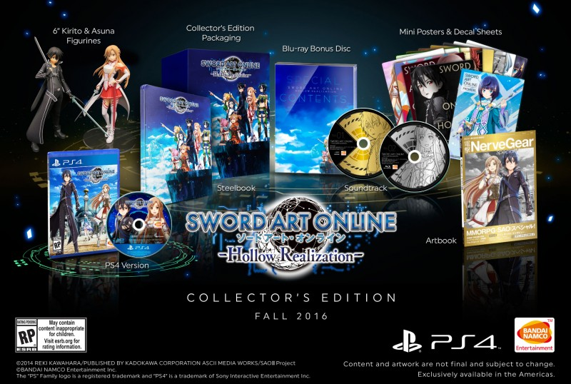Sword Art Online Hollow Realization Collector's Edition