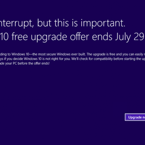 Free Windows 10 upgrade coming to a close