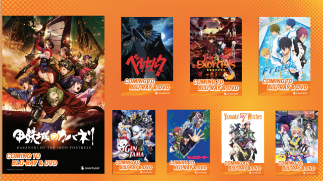 anime expo 2016 crunchyroll will now be releasing dvd and blu rays