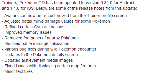 patch notes for pogo