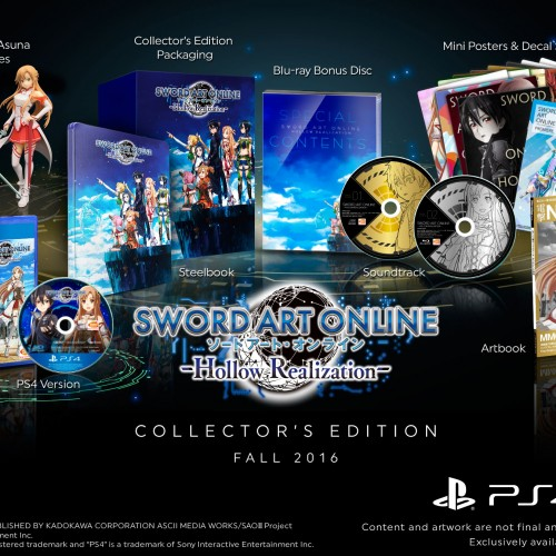 Sword Art Online -Hollow Realization- Collector's Edition revealed