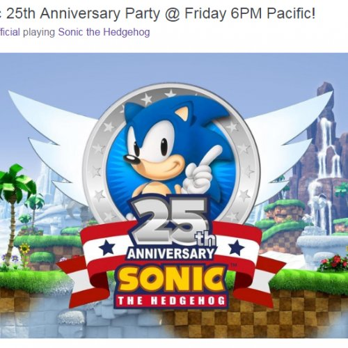 Upcoming Sonic announcement live on Twitch July 22nd!