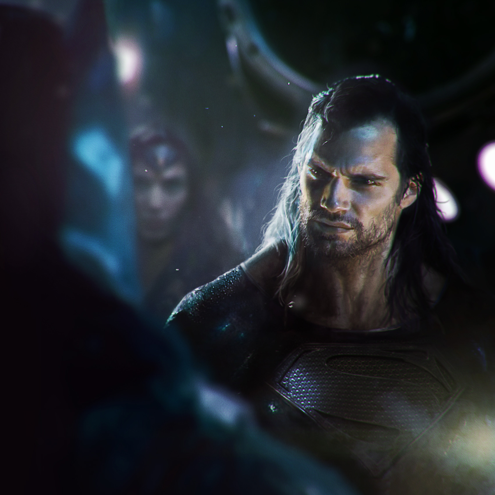 Download The Image Of The Evil Superman With Black Suit: Concept Art Shows How Superman Might Look In The Justice