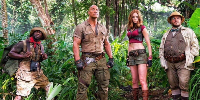 Jumanji - First set picture (Kevin Hart, Dwayne Johnson, Karen Gillan, Jack Black)