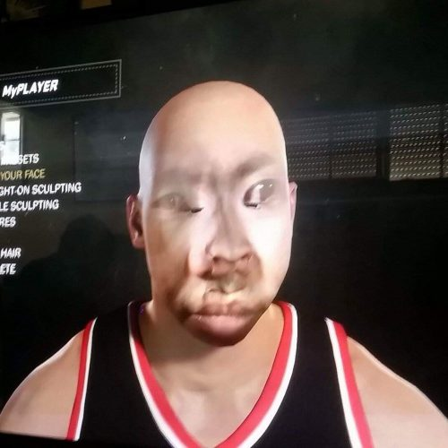 The horrors of NBA 2K17's face scan