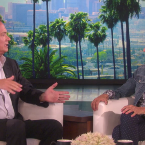 Tom Hanks re-enacts his role as Woody while on Ellen