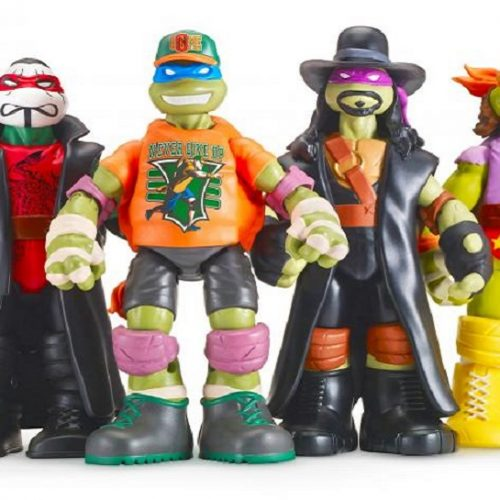 The Teenage Mutant Ninja Turtles dress up as your favorite WWE Wrestlers
