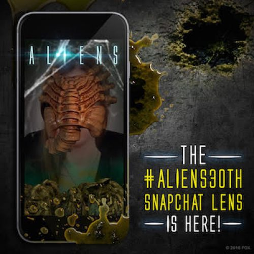 Snapchat celebrates Aliens 30th anniversary with special lens