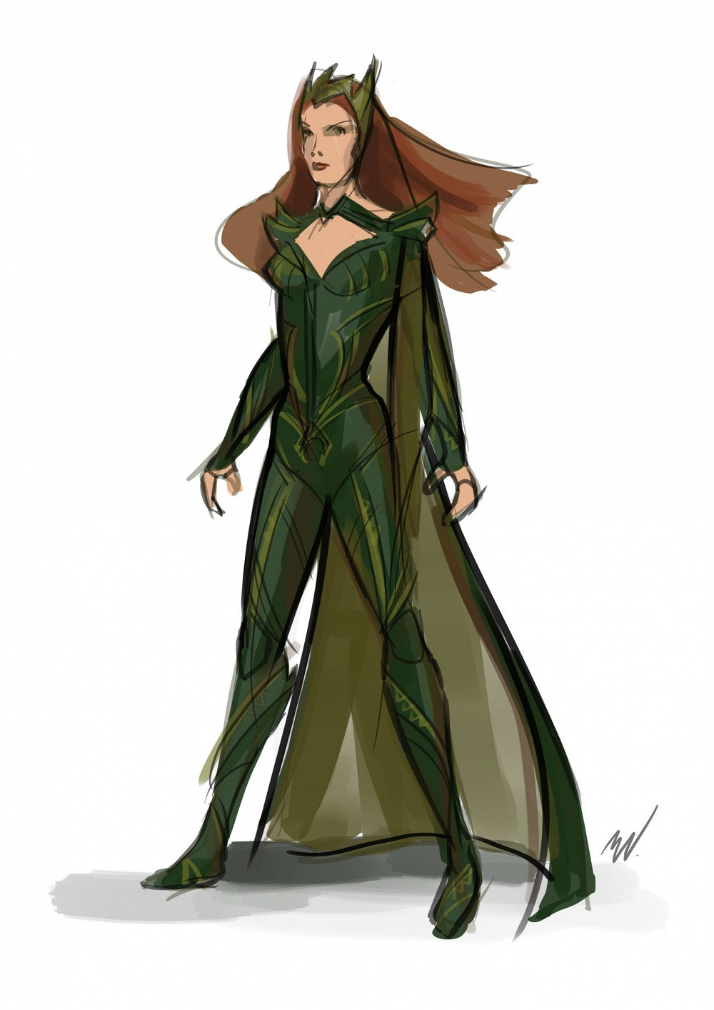 justice-league-mera-sketch