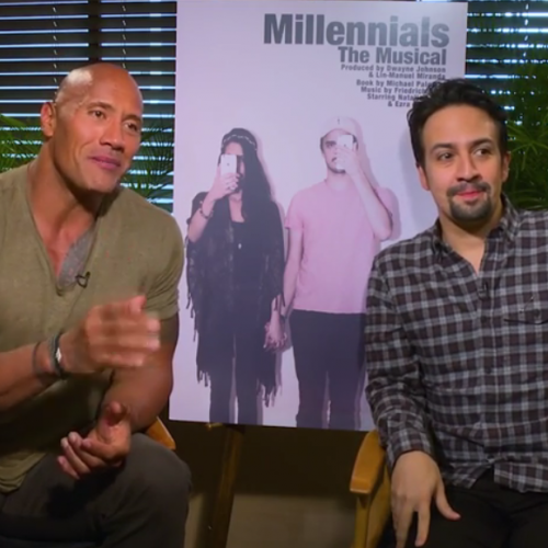 Dwayne 'The Rock' Johnson and Lin-Manuel Miranda present Millennials: The Musical