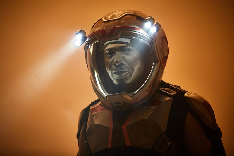Sammi Rotibi as Robert Foucault a Nigerian mechanical engineer and roboticist. The global event series MARS premieres November 14 at 8/9c in the U.S. and internationally Sunday November 13 on the National Geographic Channel. (photo credit: National Geographic Channels/Robert Viglasky)