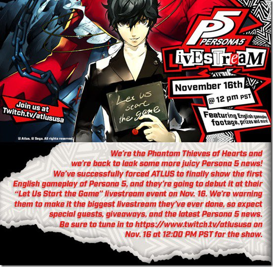 Persona 5 has been delayed again, but will get dual audio