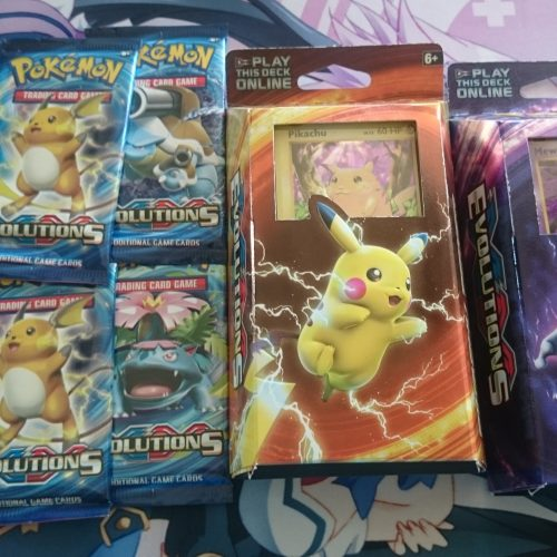 Pokémon Evolutions theme deck giveaway and pack opening