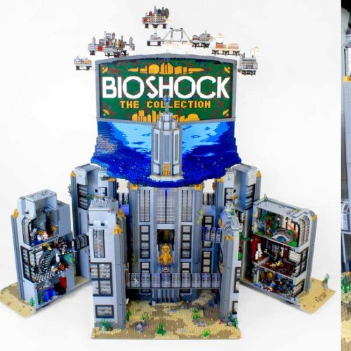BioShock: The Collection featuring Rapture recreated from LEGOs