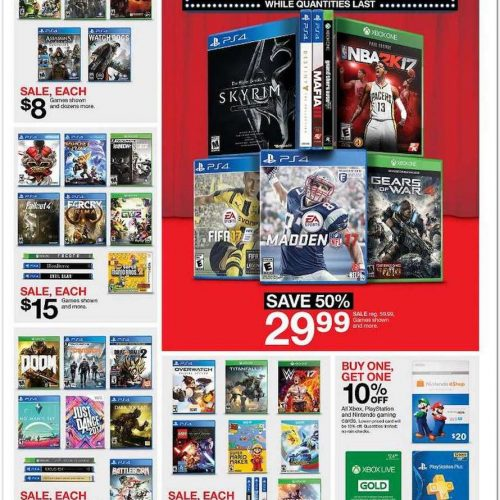 Target's Black Friday ad includes deals for Battlefield 1, Titanfall 2, Xbox One S