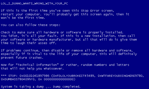 Goodbye, Blue Screen of Death!