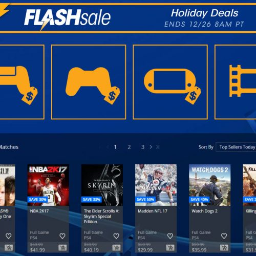 PlayStation Network Holiday Flash Sale now until Dec 26