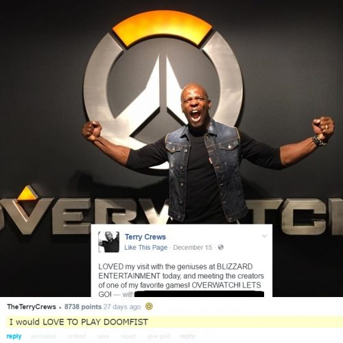 Terry Crews would LOVE to be Doomfist in Overwatch