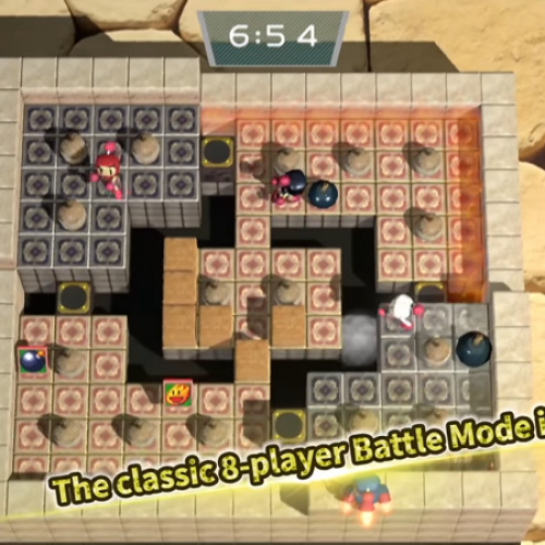 Bomberman is back and he's coming to the Nintendo Switch in March